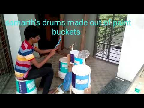 How to make a drum set at home