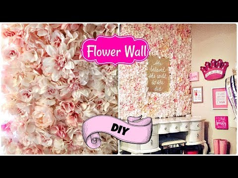 🌸 How to make a Flower Wall on a budget 🌺 2018 Flower Tile DIY