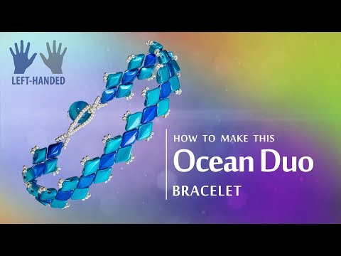 Left-handed ★ How to make this Ocean Duo Bracelet | GemDuo Seed beads