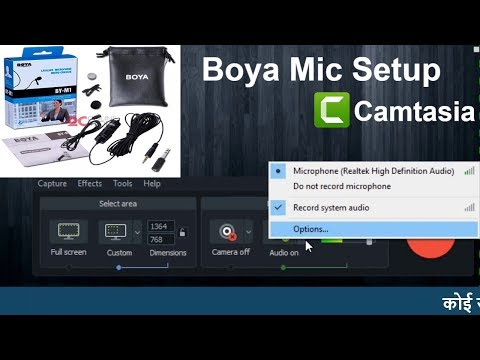 How to configure Boya collar mic with PC/Laptop and camtasia studio recording