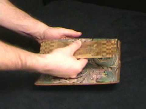 People Playing Chess - Fore-Edge Book Painting
