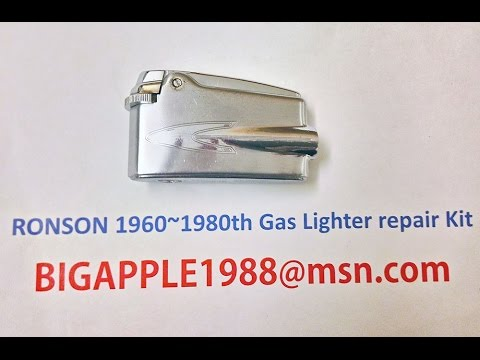RONSON 1960~1980th Gas Lighter repair Kit****2(Not the origional RONSON components)