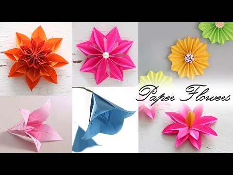 6 Easy Paper Flowers | Paper Folding | DIY Craft