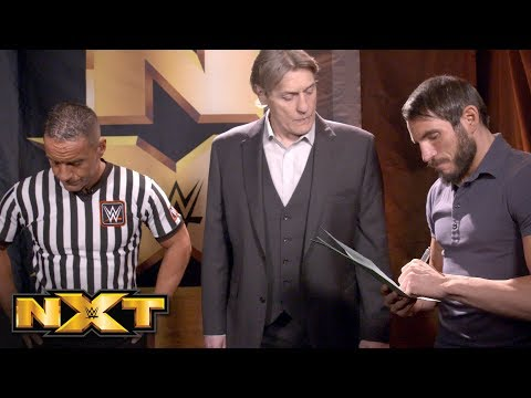 Johnny Gargano signs his Termination of Services agreement: NXT Exclusive, Feb. 22, 2018