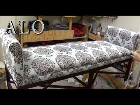 DIY: BENCH WITH ROLL ARMS -  ALO Upholstery