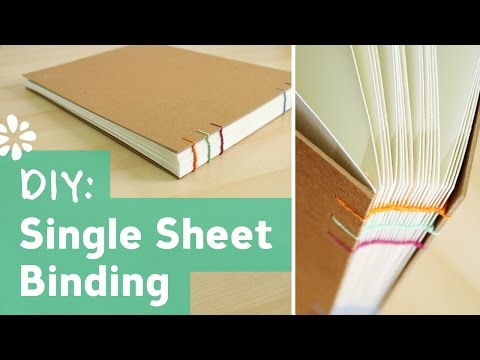 DIY Single Sheet Bookbinding Tutorial | Sea Lemon