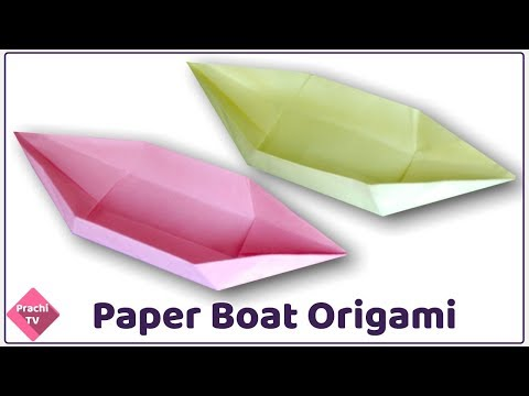 How to make an Origami Boat with a square piece of paper