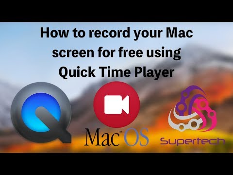 How to Record your Mac screen 2018 (Free)