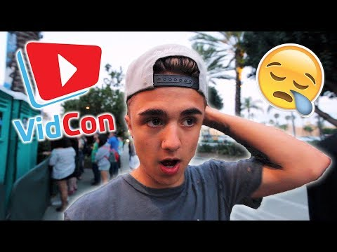 so we were told to leave VIDCON...