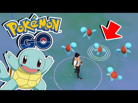 Pokemon GO! CATCHING 5 SQUIRTLES & Evolving Squirtle! - Squirtle Nest OP