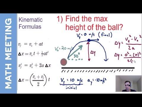 Projectile Motion - 2 dimensional kinematics (question 1)
