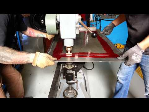 How to cut louvers in hot rod hood how to run a pullmax or Vibra-shear