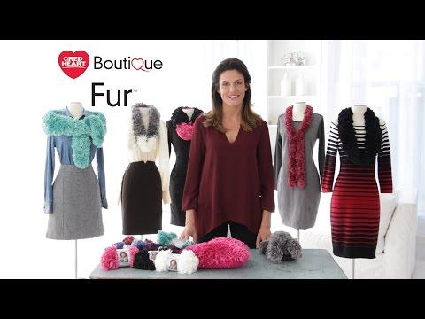 Red Heart Boutique Fur Yarn is a Luxurious Faux Fur Yarn