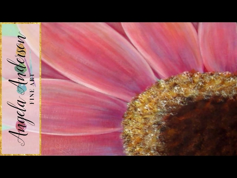 Gerbera Daisy Acrylic Painting Tutorial for Beginners (Part 1) | Free Lesson | How to Paint Daisies