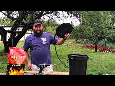 DIY charcoal fishpond filter