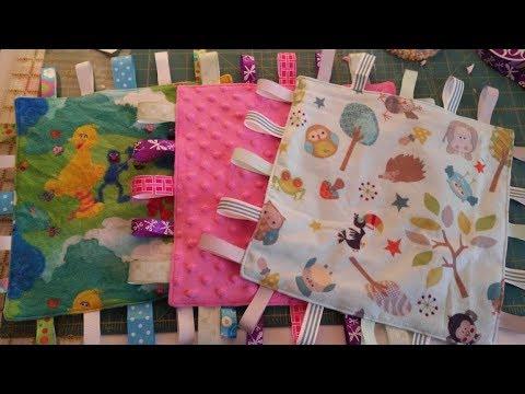 DIY Baby Taggy Blanket/Crinkle Blanket