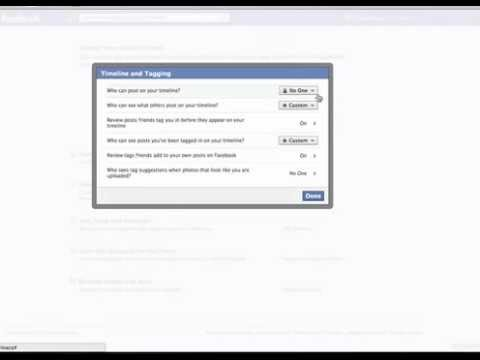 Take Back Control of Facebook Timeline Privacy Settings