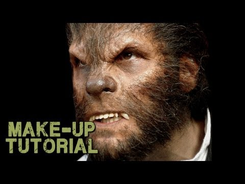 Werewolf Transformation Makeup - How to Apply Wolfman Prosthetics!