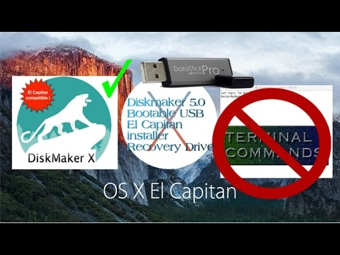 Diskmaker 5.0 Bootable El Capitan OS X 10 11 installer recovery drive