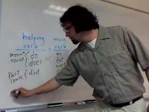 helping verbs and main verbs
