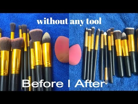 Clean makeup brushes in less than 10 seconds
