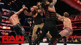 Reigns vs. Rollins vs. Owens vs. Strowman vs. Jericho — Fatal 5-Way Match: Raw, Nov. 7, 2016