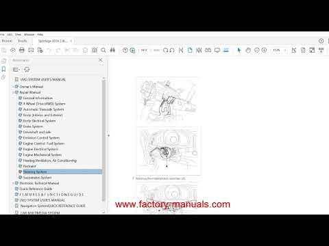 2011 kia sorento repair manual