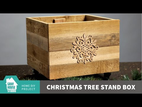 DIY Christmas Tree Stand Box