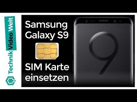 Samsung Galaxy S9 SIM Karte einsetzen