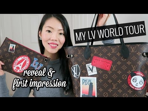 LOUIS VUITTON NEVERFULL MM MY LV WORLD TOUR & FIRST IMPRESSION REVIEW! | FashionablyAMY