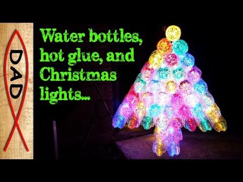 DIY Christmas tree water bottles