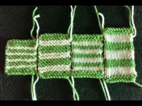 Carrying Yarns Up Side in Stripes Flat