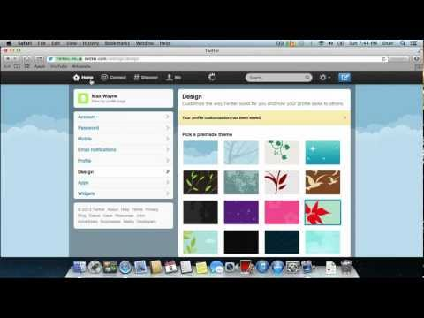 How to Change Theme in Twitter