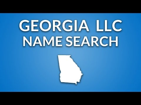 Georgia LLC - Name Search