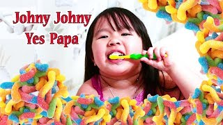 Johny Johny Yes Papa and Right and Wrong of How To brush your teeth for kids
