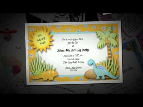 Kid's Birthday Party Invitations