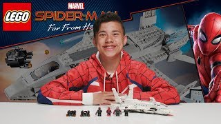 Download STARK JET AND DRONE ATTACK!!! LEGO Spider-Man: Far From Home - Set 76130 Time-Lapse Build Review! ! Video
