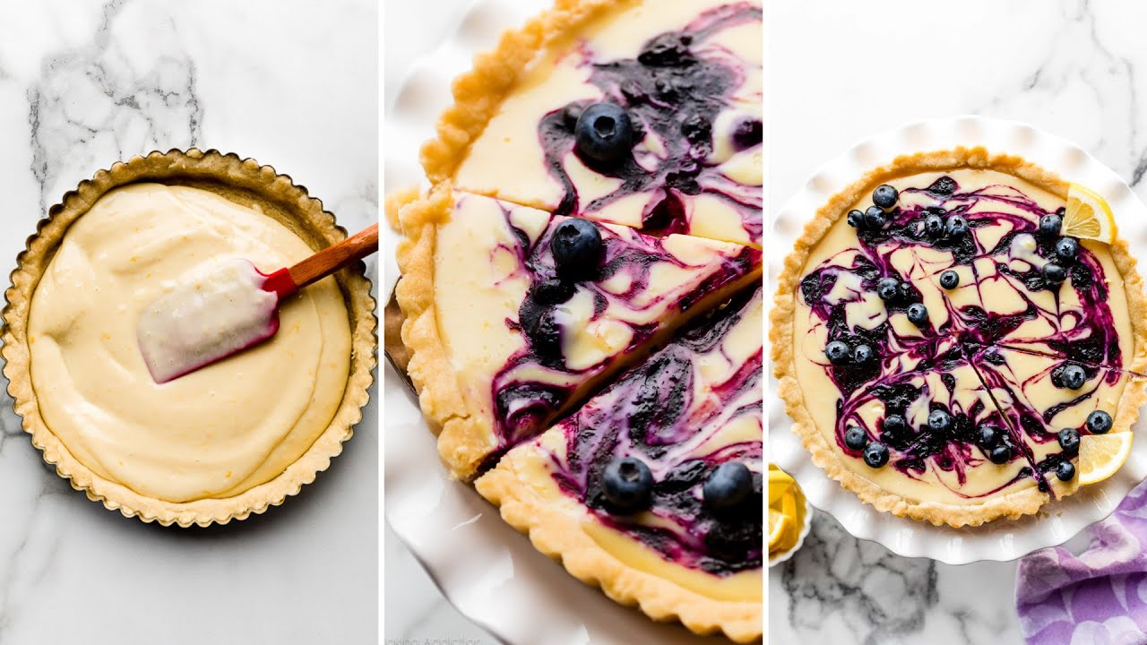 Lemon Blueberry Tart | Sally's Baking Addiction