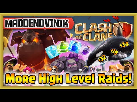 Clash of Clans - More High Level Raids! (Gameplay Commentary)