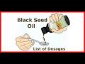 Black seed oil list of dosages