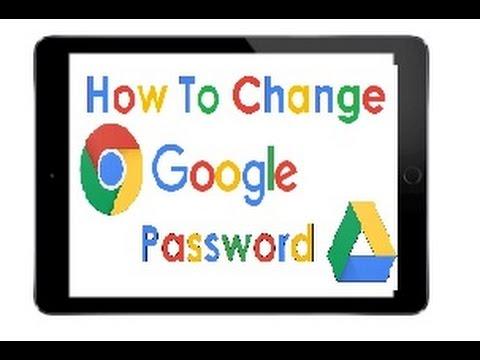 How To Change Google Password iPad