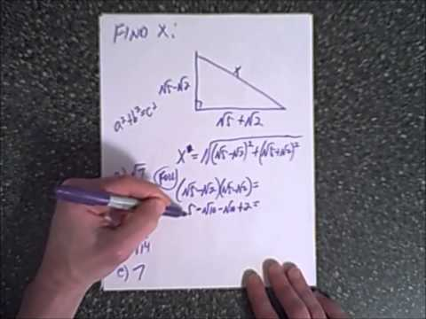 5 algebra test prep questions IV