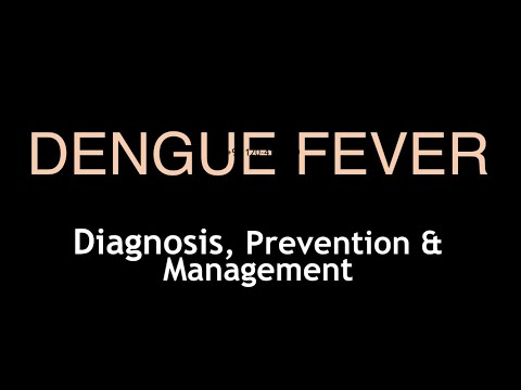 How to manage diagnose prevent and treat Dengue Infection Fever: Video in Hindi