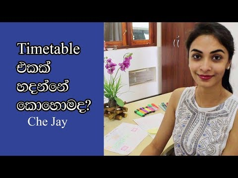 🇱🇰 Study Timetable | CHE JAY