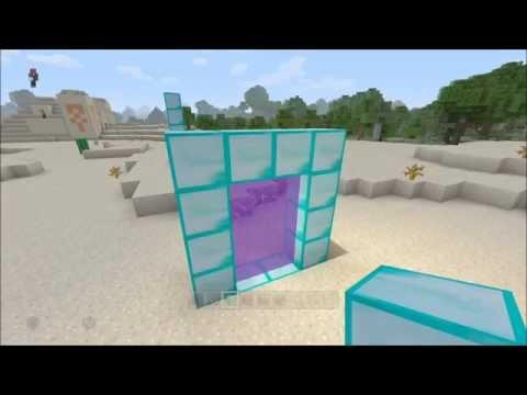 Minecraft XB1/360 + PS4/PS3 How To Make Any Block Portal Glitch