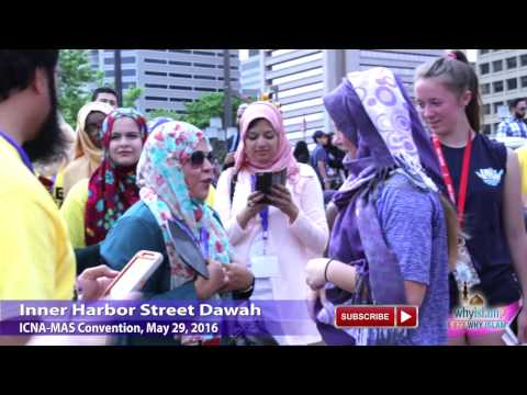 Watch Largest Street Dawah - 500 Muslims with Hamza Tzortzis @ ICNA Conv, Baltimore, MD