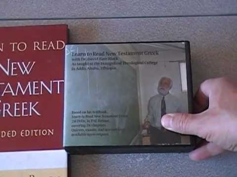 Review of Learn to Read New Testament Greek book and DVD lectures by Dr. David Alan Black