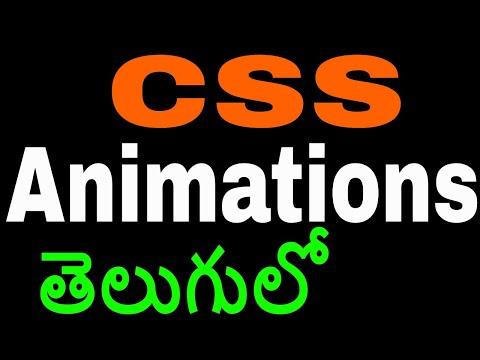 CSS Animations in Telugu by Kotha Abhishek