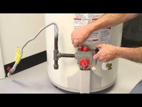 How to reset gas water tank pilot light