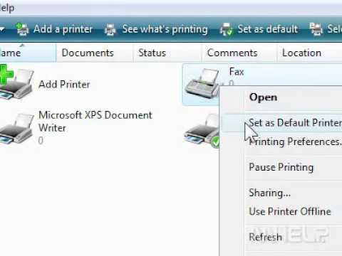 How to set the default printer in PowerPoint 2007
